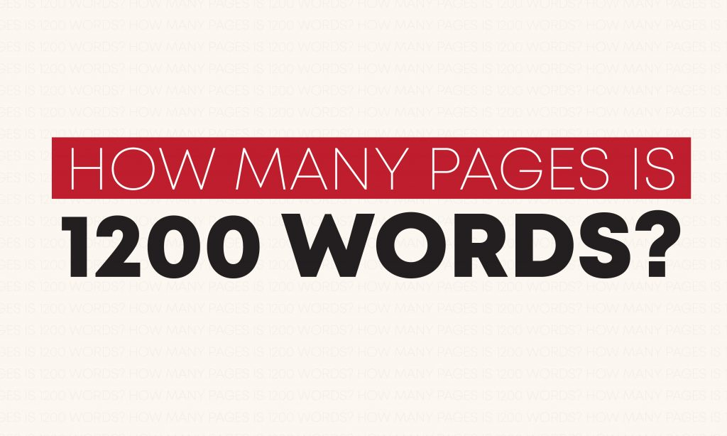 How many pages is 1200 words?