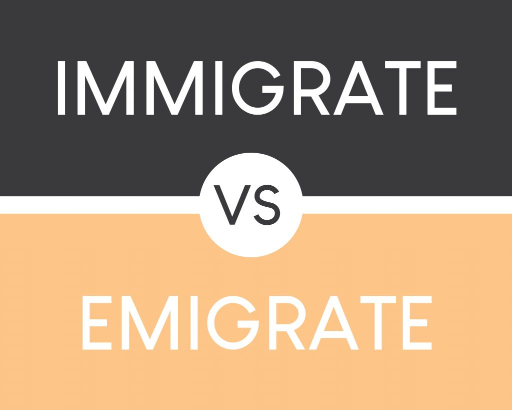 immigrate vs emigrate