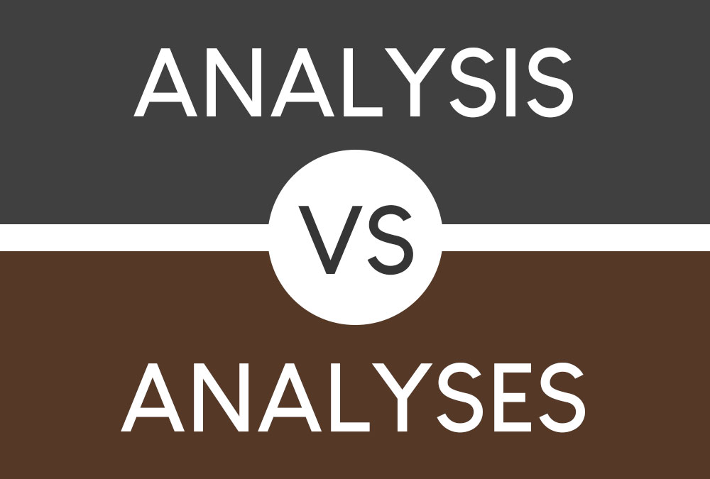 analysis vs analyses