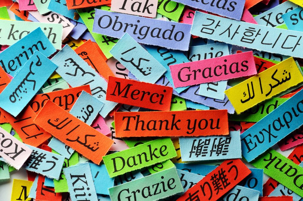 different languages of thank you